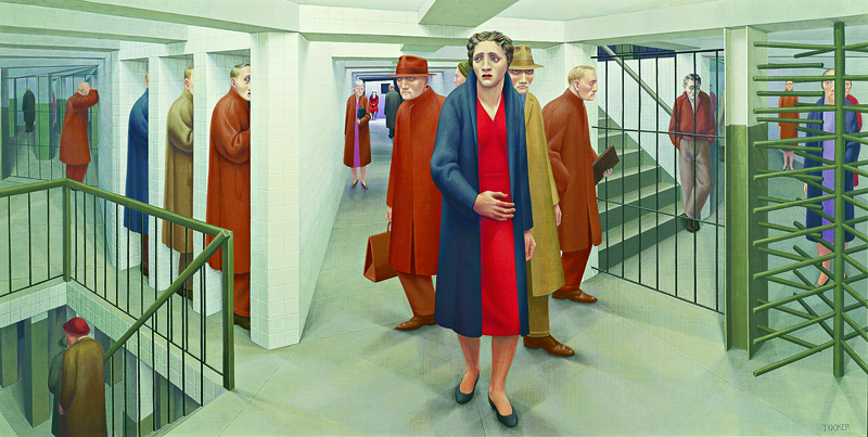 George Tooker, The Subway, 1950. Whitney Museum of American Art, New York. Photography by Sheldan Collins. (c) Estate of George Tooker, Courtesy of D.C. Moore Gallery, N.Y.