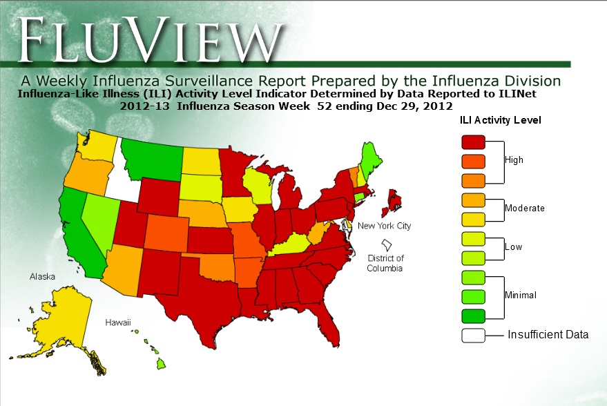 2014 2015 Flu Map by State