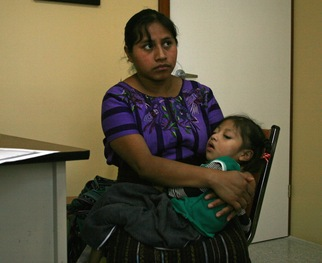 Kayla with her mother at Hospitalito Atitlan.