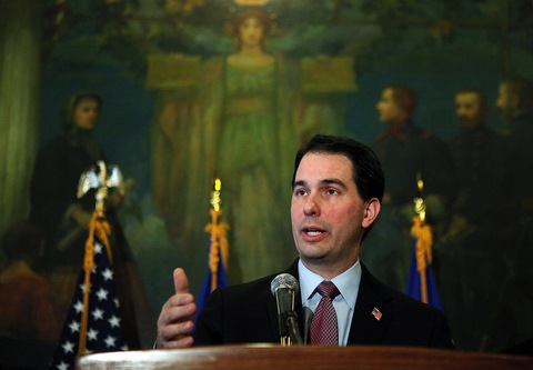 Wisconsin Gov. Scott Walker; Justin Sullivan/Getty Images