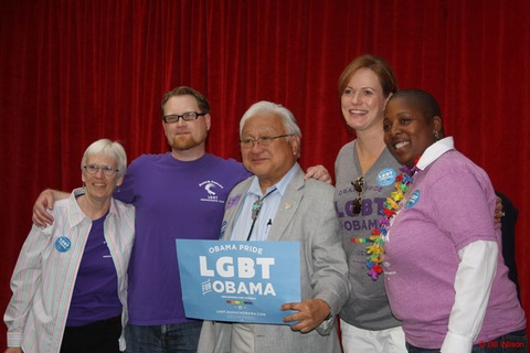 ... money for one of the city's two major gay and lesbian Democratic clubs.