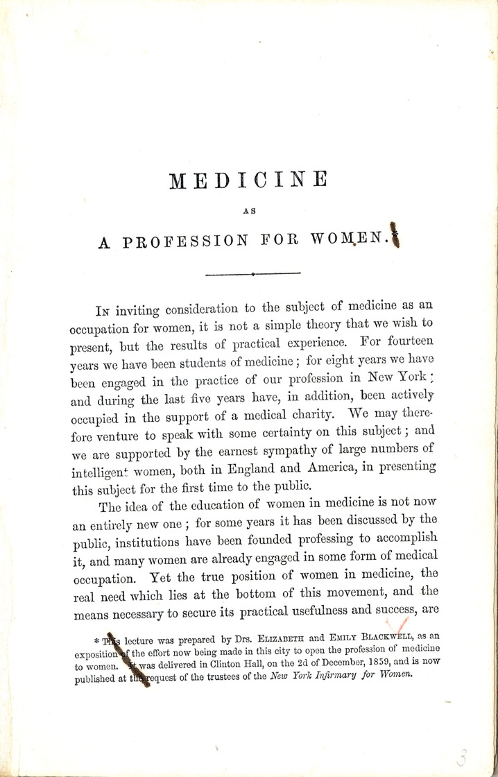 elizabeth blackwell essays in medical sociology Essays in medical sociology by elizabeth blackwell, 1902, e bell edition.