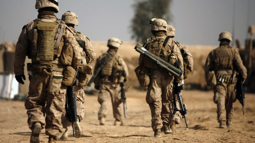 Marines in southern Afghanistan. Photo by Patrick Baz/AFP/Getty Images.