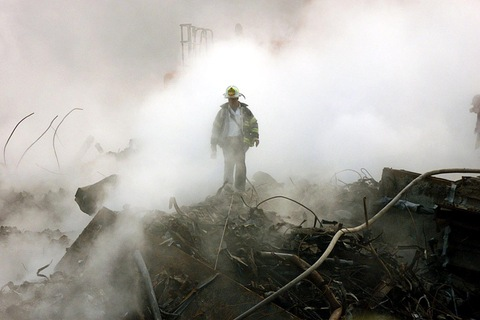 New York City fireman at Ground Zero