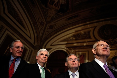 Democratic Sens. Tom Harkin of Iowa, Chris Dodd of Connecticut, Robert Menendez of New Jersey and Majority Leader Harry Reid of Nevada