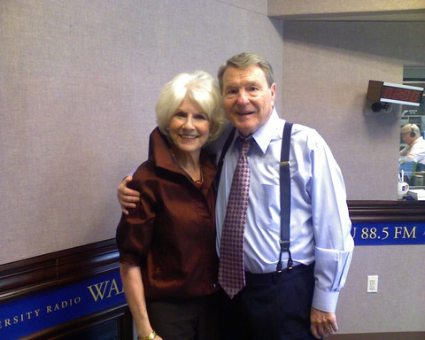 Jim Lehrer and Diane Rehm at her show