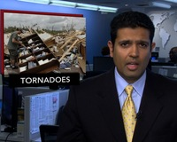 News Wrap: Tornadoes and Storms Ravage Southeast, Killing 10