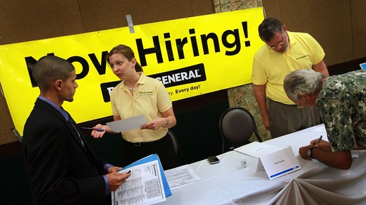 The latest jobs report signals that some employers are hiring again. (Joe Raedle/Getty Images)