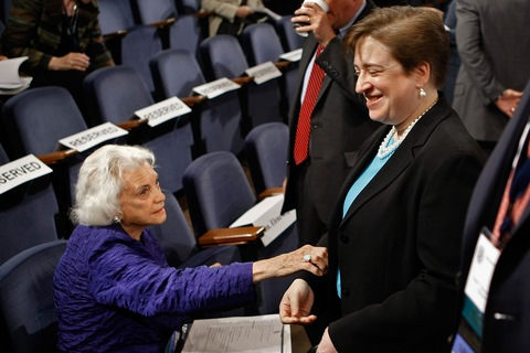Former Supreme Court Justice Sandra Day O'Connor and U.S. Solicitor General Elena Kagan