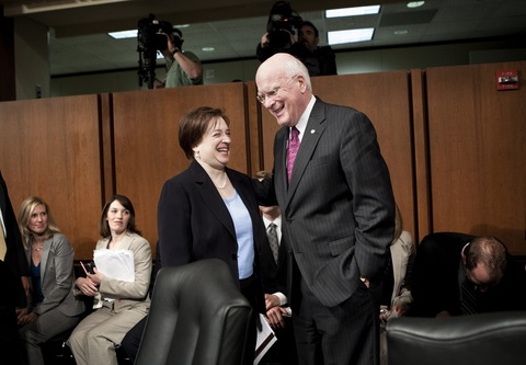 Supreme Court nominee Elena Kagan and Sen. Patrick Leahy, D-Vt.