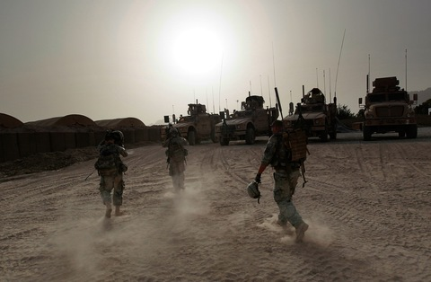 US Army Patrols Pashtun Villages South of Kandahar