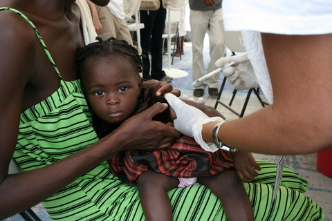 Vaccination campaign in Port-au-Prince; Photo by Talea Miller, PBS NewsHour