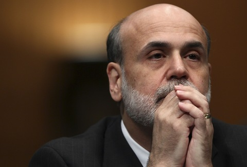 Fed Chairman Ben Bernanke; Getty Images file photo