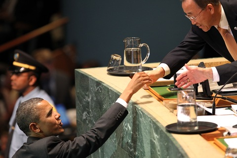 President Obama and U.N. Secretary General Ban Ki-Moon