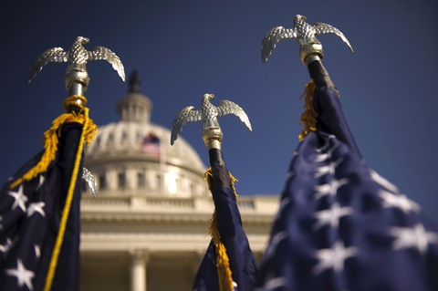Flags at the Capitol