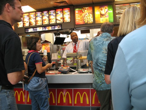 McDonald's worker in Indiana; Creative Commons photo by flickr.com/consumerist