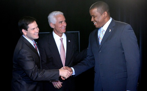 Republican Marco Rubio, Independent Gov. Charlie Crist and U.S. Rep. Kendrick Meek