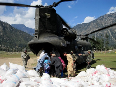 Delivering aid in the Swat valley