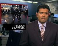 News Wrap: Sarkozy Seeks to Reopen Refineries as Protests Drain Gas Stations