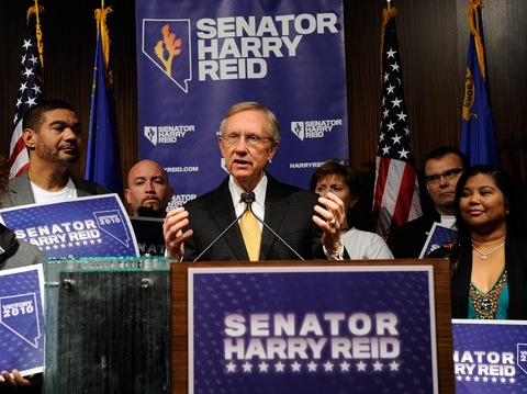 Reid speaks at post-election news conference in Las Vegas