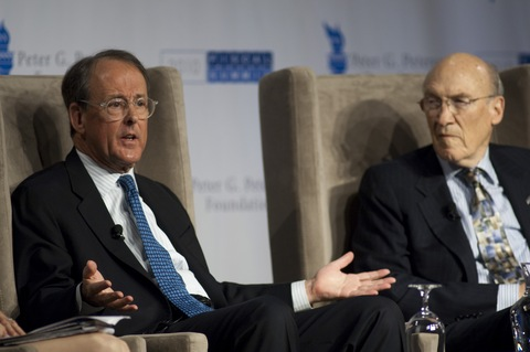 National Commission on Fiscal Responsibility and Reform co-chairmen Erskine Bowles and Alan Simpson