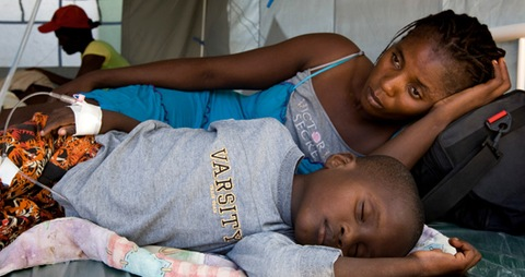 Cholera victim in Haiti