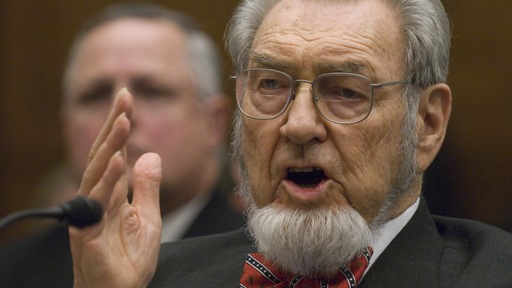 Former Surgeon General of the United States C. Everett Koop. Image by Getty/AFP