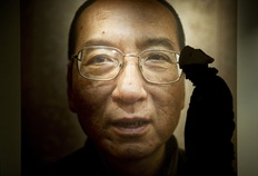 A poster of Chinese dissident and peace prize laureate Liu Xiaobo. Photo: Odd Andersen/ AFP/Getty Images