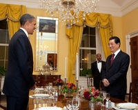 Obama, Hu Talk Up Cooperation, But Big Differences Persist