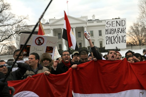 Anti-Mubarak Demonstration at the White House; photo by Collin David Anderson via Flickr