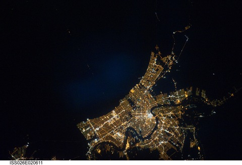 New Orleans as Seen From Space on Jan. 26, 2011; Creative Commons photo courtesy NASA's Marshall Space Flight Center