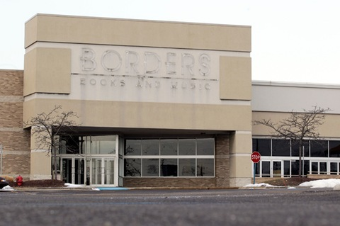 A Borders Group Inc. bookstore that closed last month stands in Farmington Hills, Michigan, U.S. Photo by Jeff Kowalsky/ Bloomberg via Getty Images