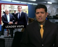 News Wrap: British Prime Minister David Cameron Visits Egypt