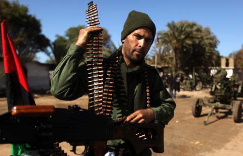 Rebel fighter in Benghazi, Libya, Feb. 28 (AFP/Getty Images)