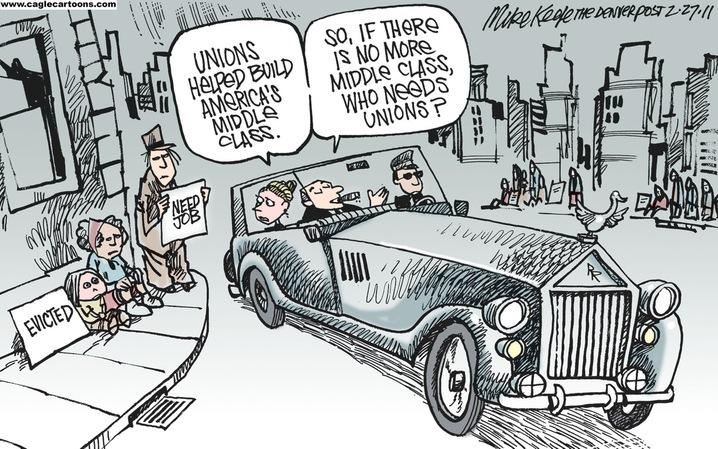 No Middle Class? No Unions!