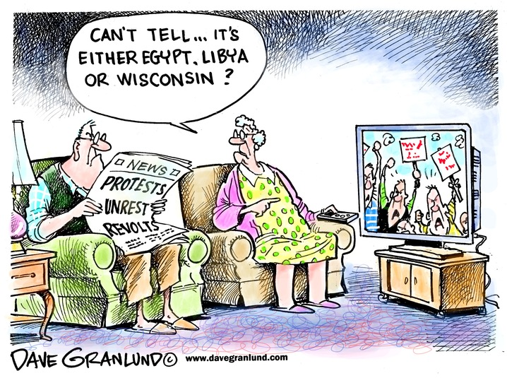 Egypt, Libya or Wisconsin?