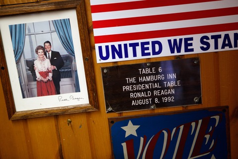 Table number 6 at the Hamburg Inn, Iowa; Chip Somodevilla/Getty Images