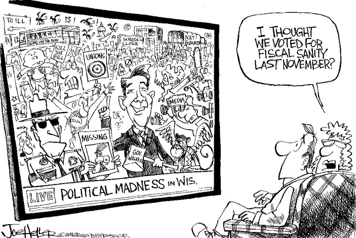 Political Madness in Wisconsin