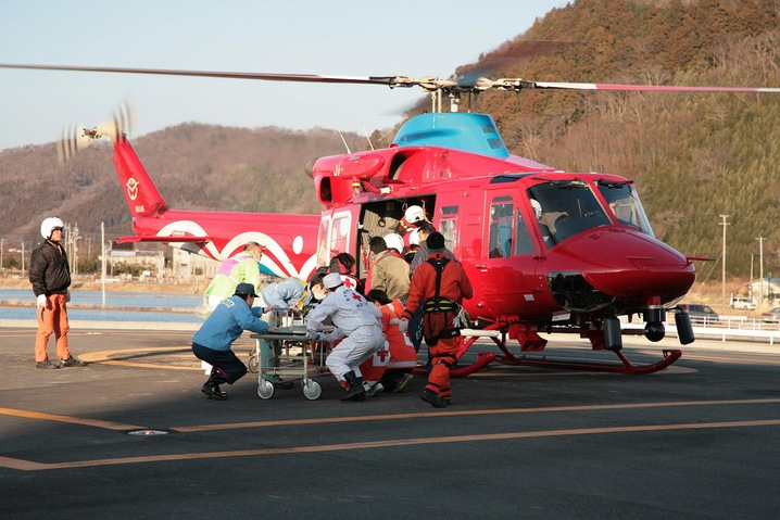Airlifting patients
