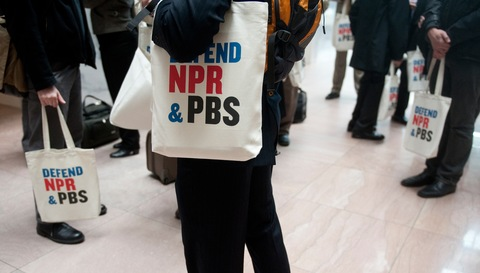 PBS and NPR supporters; photo by Bill Clark/Roll Call