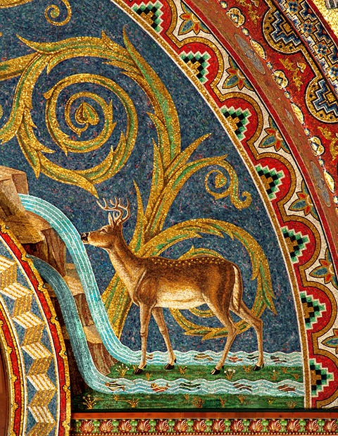 Drinking Deer Mosaic
