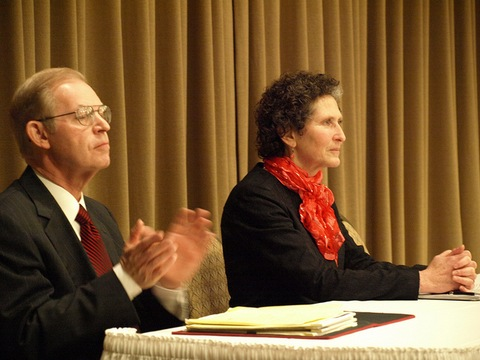 Wisconsin Supreme Court candidates David Prosser, JoAnne Kloppenburg; Creative Commons photo courtesy flickr.com/wispolitics/