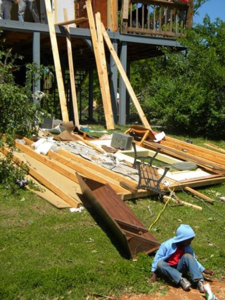 Destroyed Home