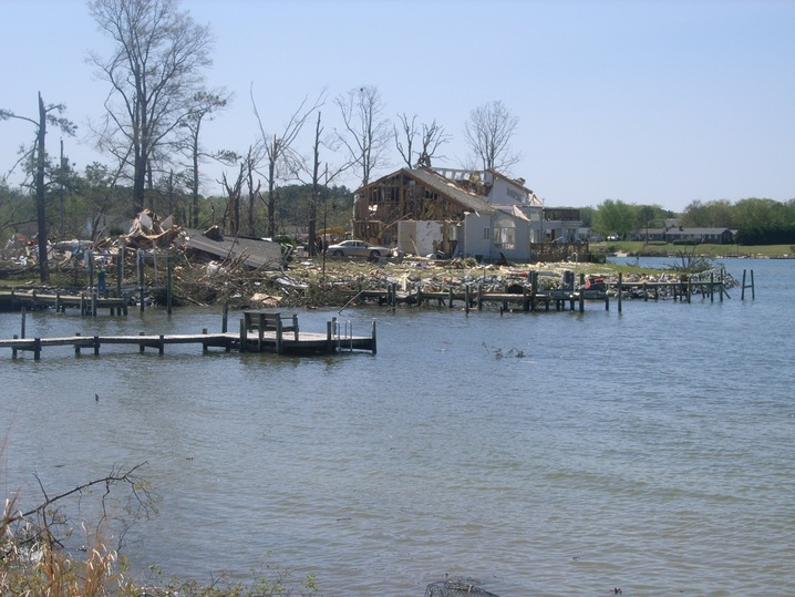 Lake House Destroyed