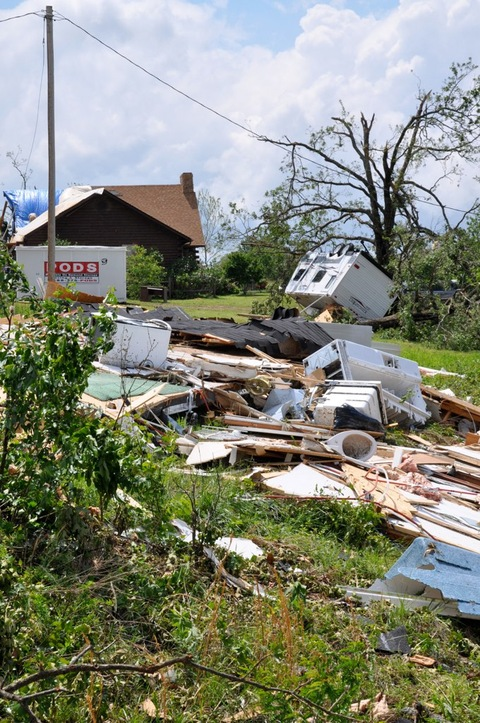 Damage From Arkansas Tornado