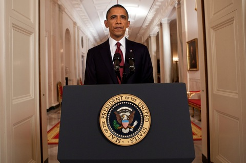 President Obama; photo by Brendan Smialowski/Bloomberg via Getty Images