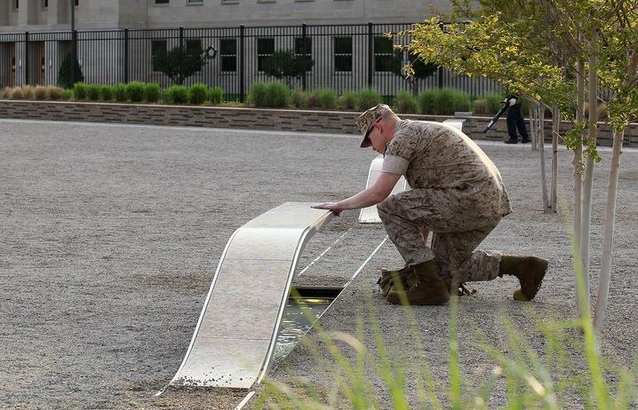 Reflection at 9/11 Memorial