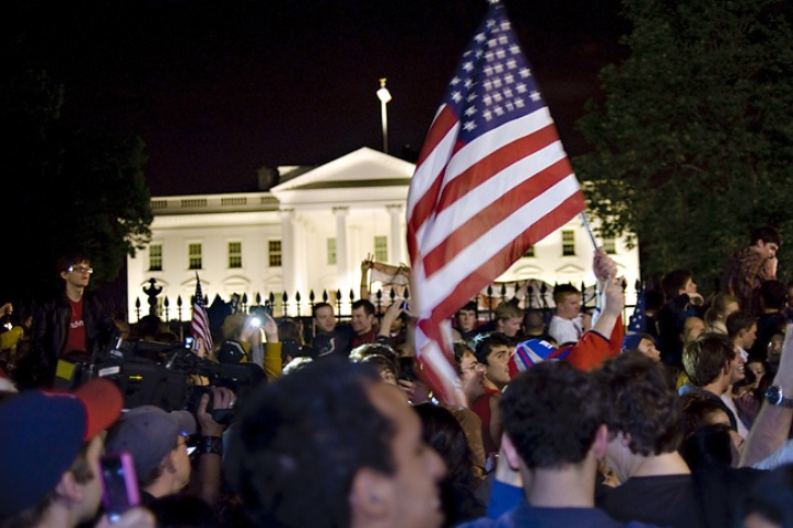 Jubilation Outside White House