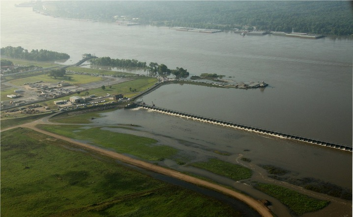 Aerial of Spillway