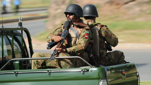 Pakistani soldiers (Farooq Naeem/AFP/Getty Images)